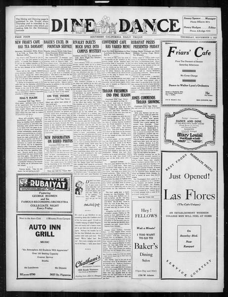 Daily Trojan, Vol. 19, No. 34, November 03, 1927