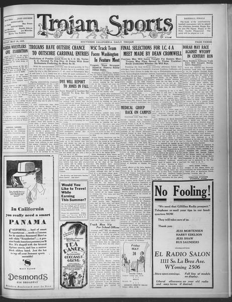 Daily Trojan, Vol. 20, No. 148, May 24, 1929