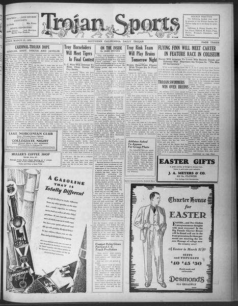 Daily Trojan, Vol. 20, No. 110, March 22, 1929