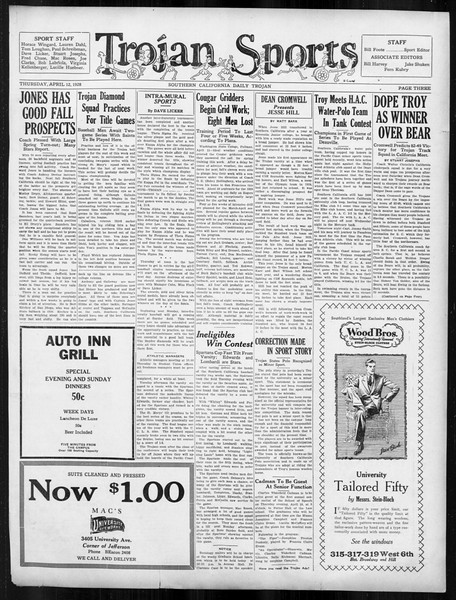 Daily Trojan, Vol. 19, No. 111, April 12, 1928