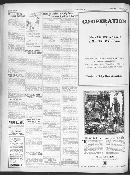Daily Trojan, Vol. 20, No. 69, January 14, 1929