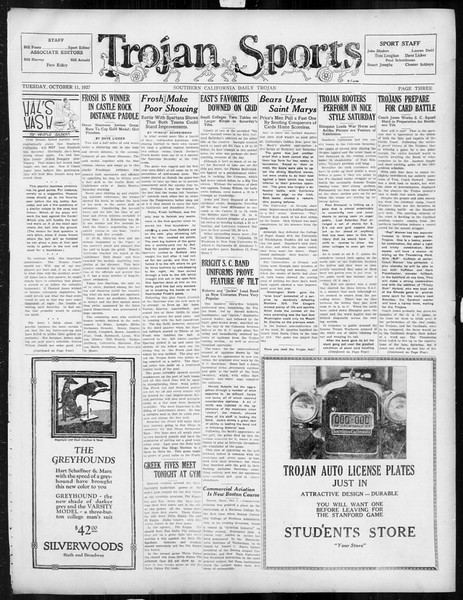 Daily Trojan, Vol. 19, No. 17, October 11, 1927
