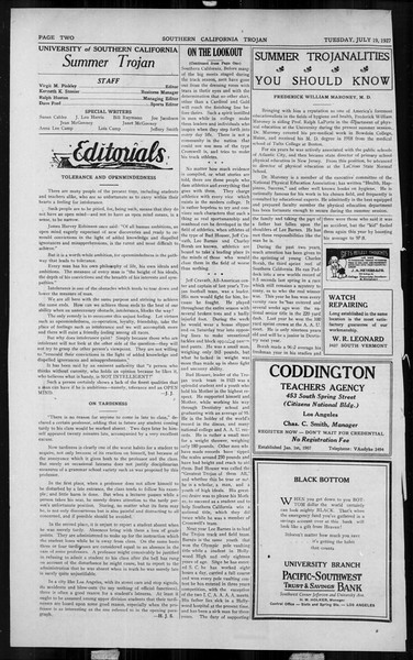 The Southern California Trojan, Vol. 6, No. 7, July 19, 1927