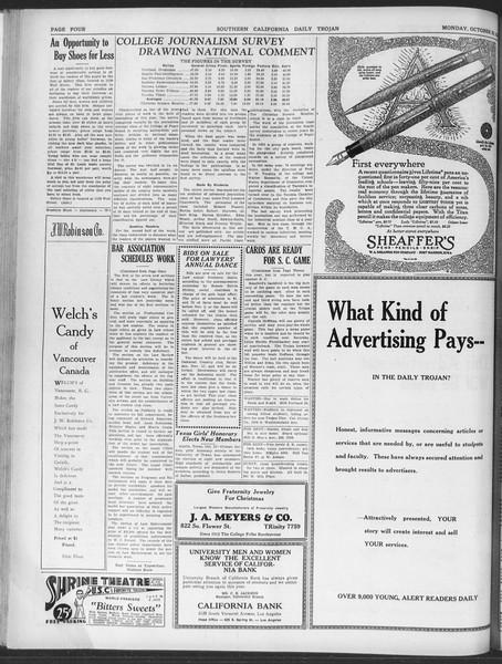 Daily Trojan, Vol. 20, No. 32, October 29, 1928