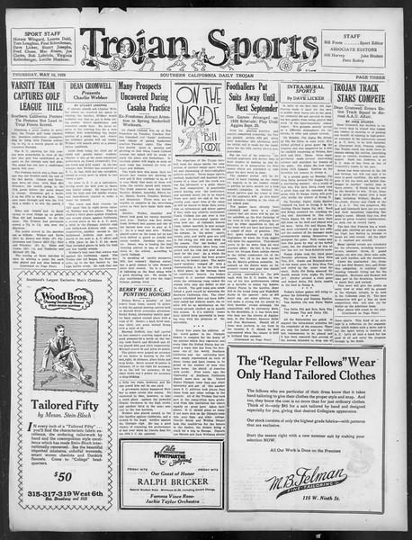 Daily Trojan, Vol. 19, No. 131, May 10, 1928