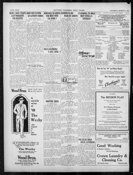 Daily Trojan, Vol. 18, No. 113, March 31, 1927