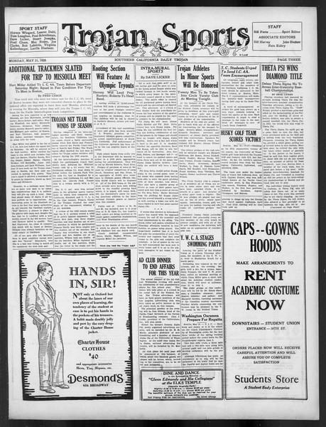 Daily Trojan, Vol. 19, No. 138, May 21, 1928