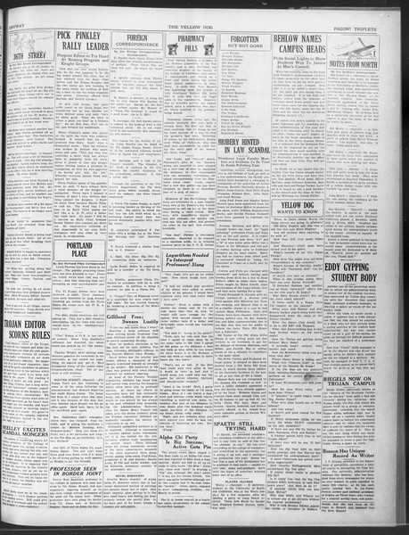 """The Yellow Dog, Vol. """"unknown"""", """"Jail"""" No. """"44328"""", April 10, 1929"""