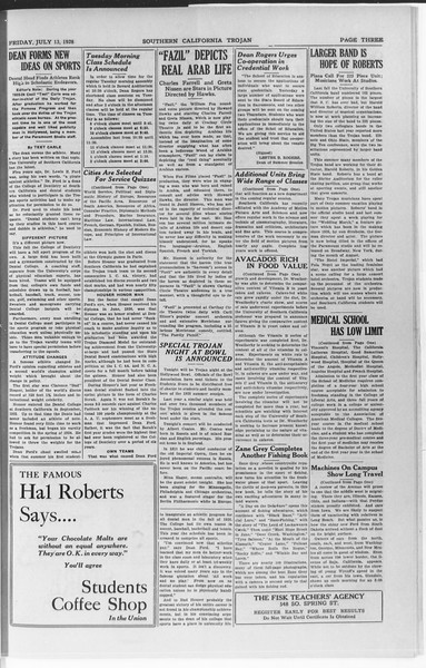 Trojan, Vol. 7, No. 4, July 13, 1928