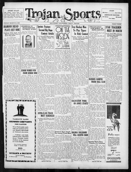 Daily Trojan, Vol. 19, No. 105, March 23, 1928