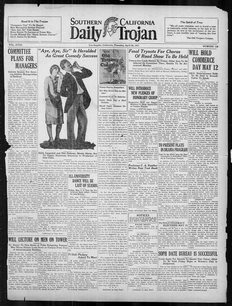Daily Trojan, Vol. 18, No. 126, April 28, 1927