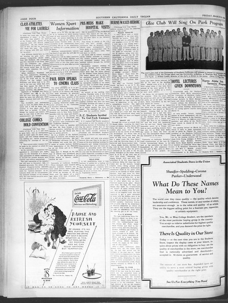 Daily Trojan, Vol. 20, No. 100, March 08, 1929