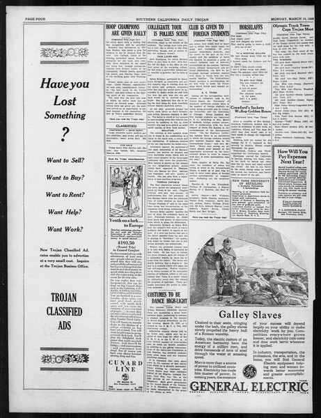Daily Trojan, Vol. 19, No. 101, March 19, 1928