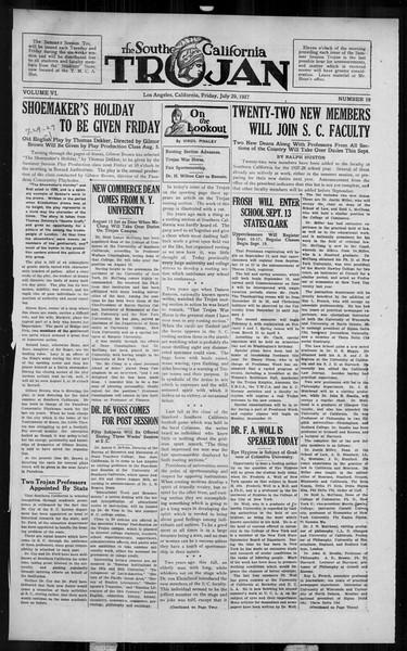 The Southern California Trojan, Vol. 6, No. 10, July 29, 1927