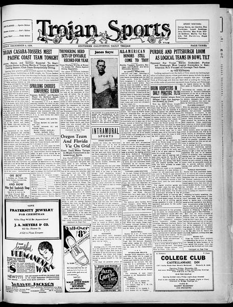 Southern California Daily Trojan, Vol. 21, No. 54, December 06, 1929