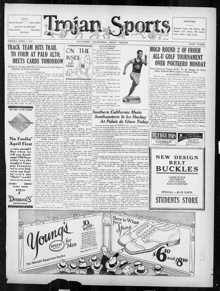 Daily Trojan, Vol. 18, No. 114, April 01, 1927