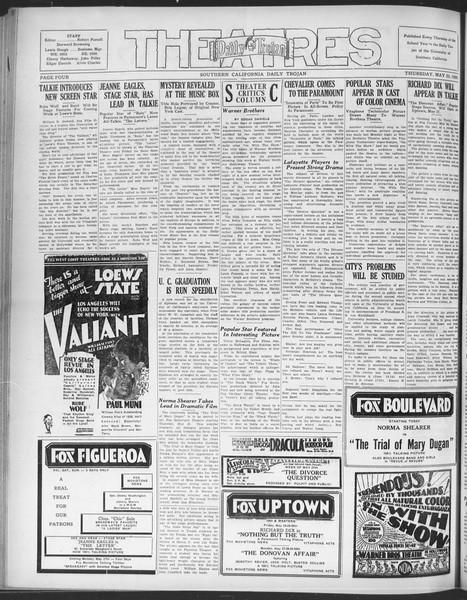 Daily Trojan, Vol. 20, No. 147, May 23, 1929
