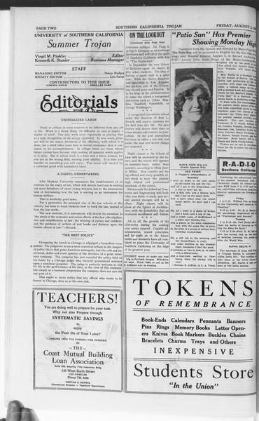 Trojan, Vol. 7, No. 10, August 03, 1928