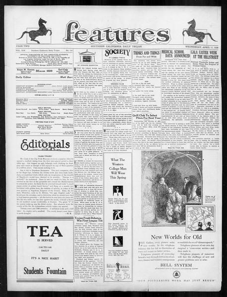 Daily Trojan, Vol. 19, No. 110, April 11, 1928