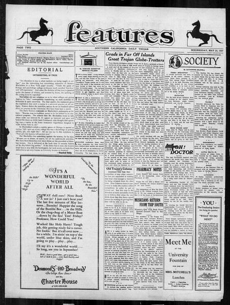 Daily Trojan, Vol. 18, No. 145, May 25, 1927