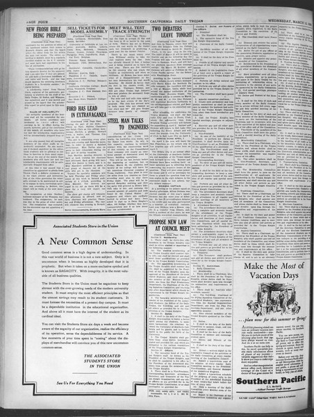 Daily Trojan, Vol. 20, No. 103, March 13, 1929