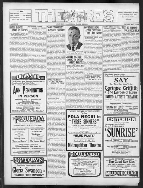 Daily Trojan, Vol. 19, No. 127, May 04, 1928
