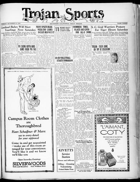 Southern California Daily Trojan, Vol. 21, No. 21, October 15, 1929
