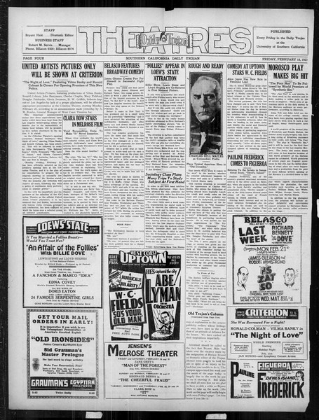 Daily Trojan, Vol. 18, No. 84, February 18, 1927