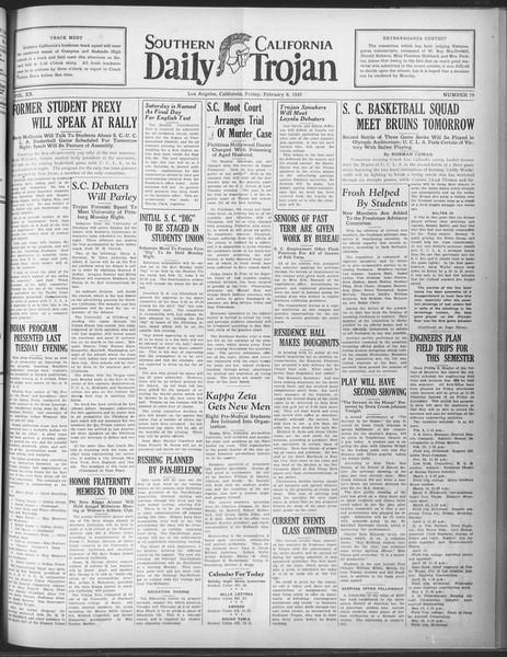 Daily Trojan, Vol. 20, No. 79, February 08, 1929