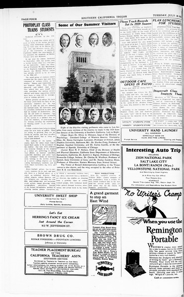 The Southern California Trojan, Vol. 8, No. 5, July 16, 1929
