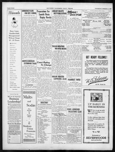 Daily Trojan, Vol. 19, No. 99, March 15, 1928