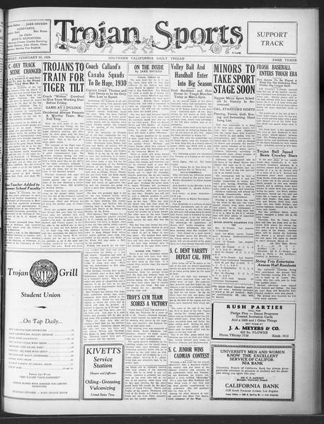 Daily Trojan, Vol. 20, No. 90, February 25, 1929