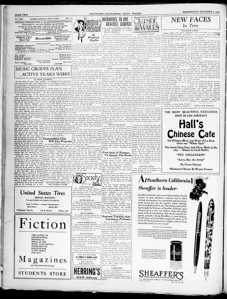 Southern California Daily Trojan, Vol. 21, No. 17, October 09, 1929