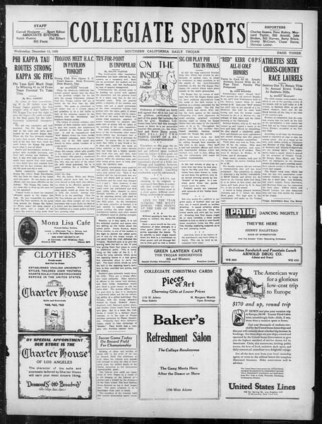 Daily Trojan, Vol. 18, No. 62, December 15, 1926