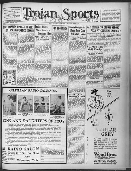 Daily Trojan, Vol. 20, No. 137, May 09, 1929