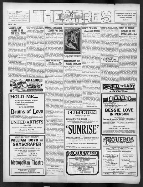 Daily Trojan, Vol. 19, No. 132, May 11, 1928