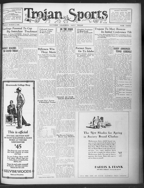 Daily Trojan, Vol. 20, No. 97, March 05, 1929
