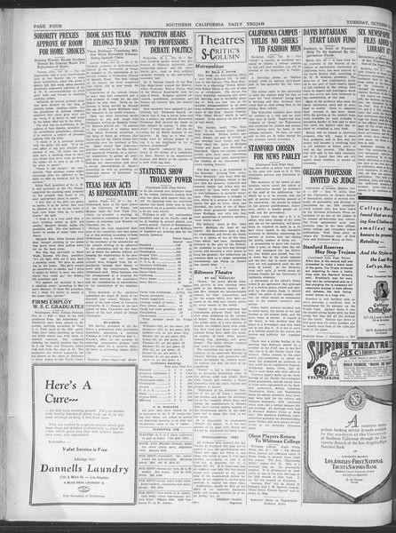 Daily Trojan, Vol. 20, No. 28, October 23, 1928