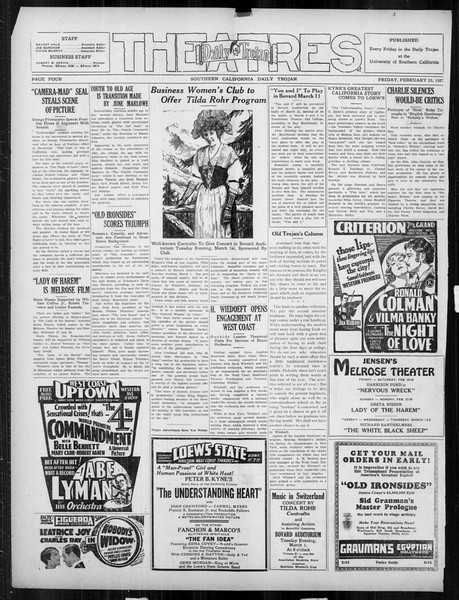 Daily Trojan, Vol. 18, No. 89, February 25, 1927