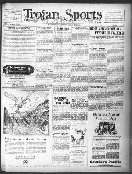 Daily Trojan, Vol. 20, No. 99, March 07, 1929