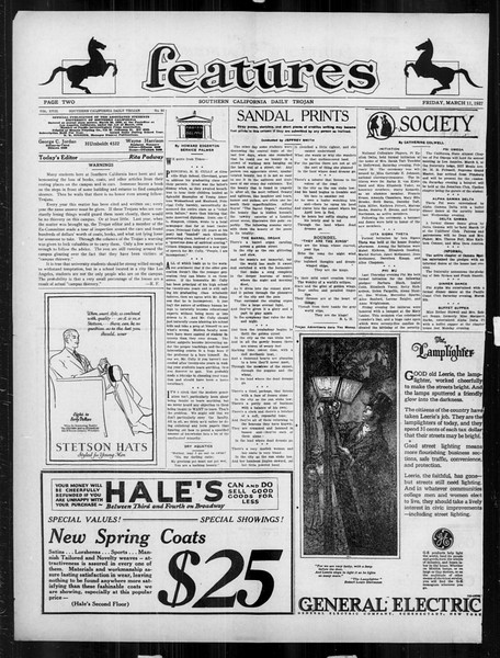Daily Trojan, Vol. 18, No. 94, March 04, 1927