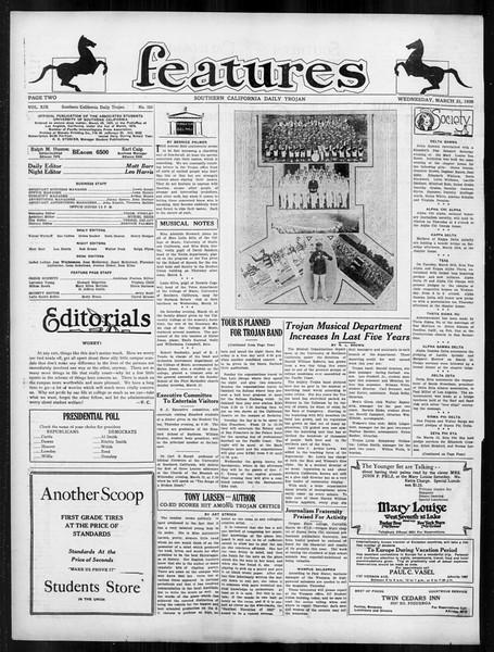 Daily Trojan, Vol. 19, No. 103, March 21, 1928