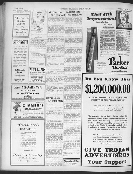 Daily Trojan, Vol. 20, No. 145, May 21, 1929