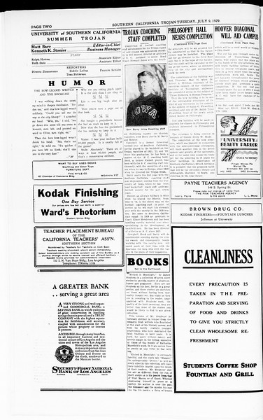 The Southern California Trojan, Vol. 8, No. 3, July 09, 1929