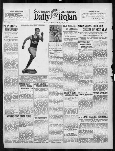 Daily Trojan, Vol. 18, No. 143, May 23, 1927