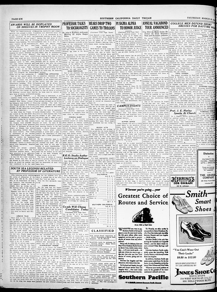 Southern California Daily Trojan, Vol. 21, No. 106, March 20, 1930