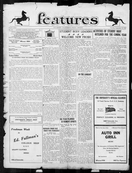 Daily Trojan, Vol. 19, No. 1, September 13, 1927