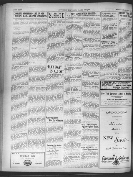 Daily Trojan, Vol. 20, No. 101, March 11, 1929