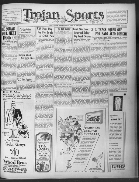 Daily Trojan, Vol. 20, No. 113, April 04, 1929