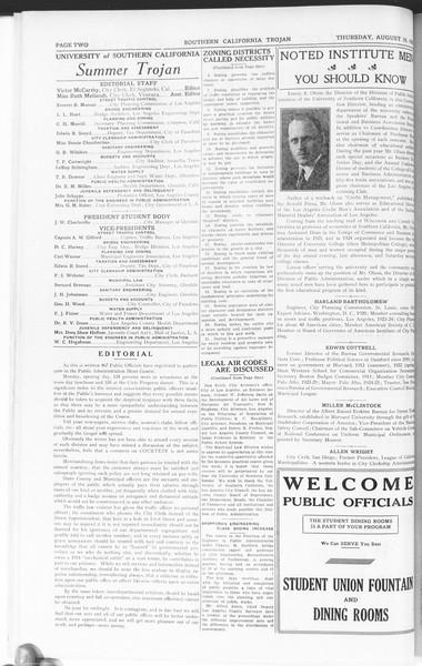 Trojan: Division of Public Administration, Vol. 1, No. 3, August 16, 1928